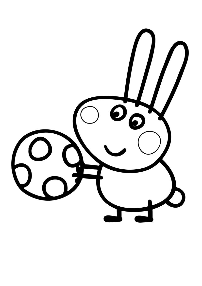Свинка Пеппа Кролик Роджер | Папины Сказки - скачать раскраски