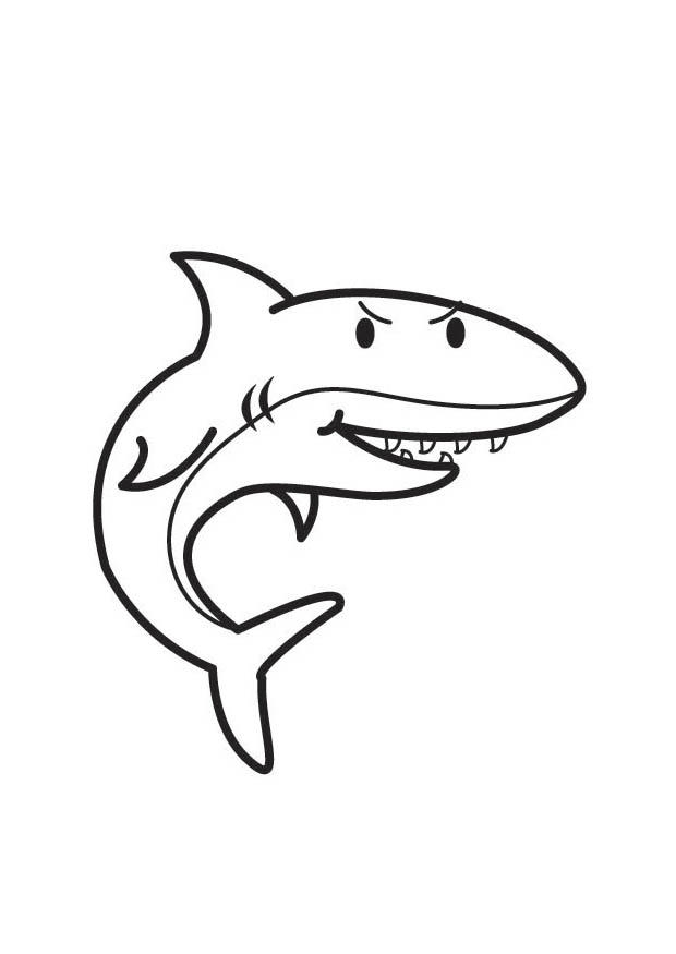 Акула Хищница | Папины Сказки - скачать детские раскраски