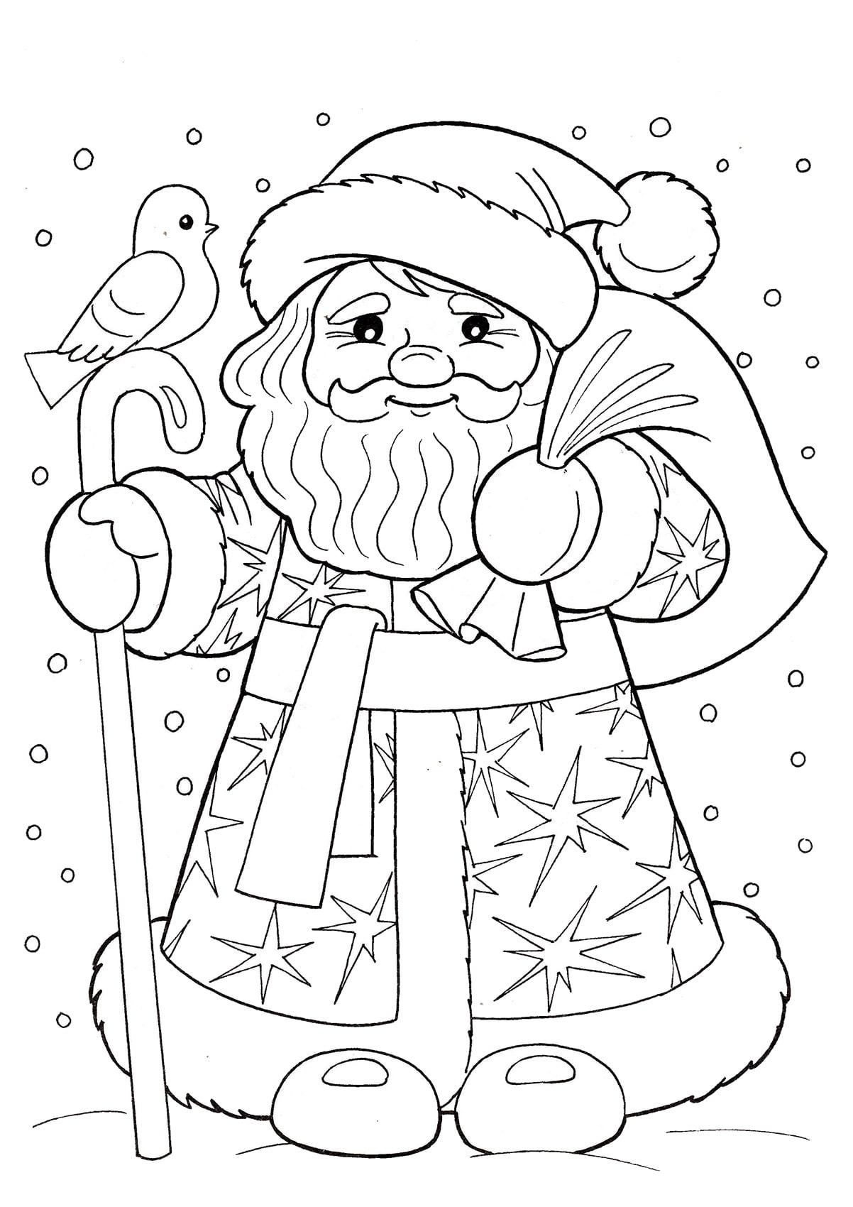 Добрый Дедушка Мороз | Папины Сказки - скачать раскраски