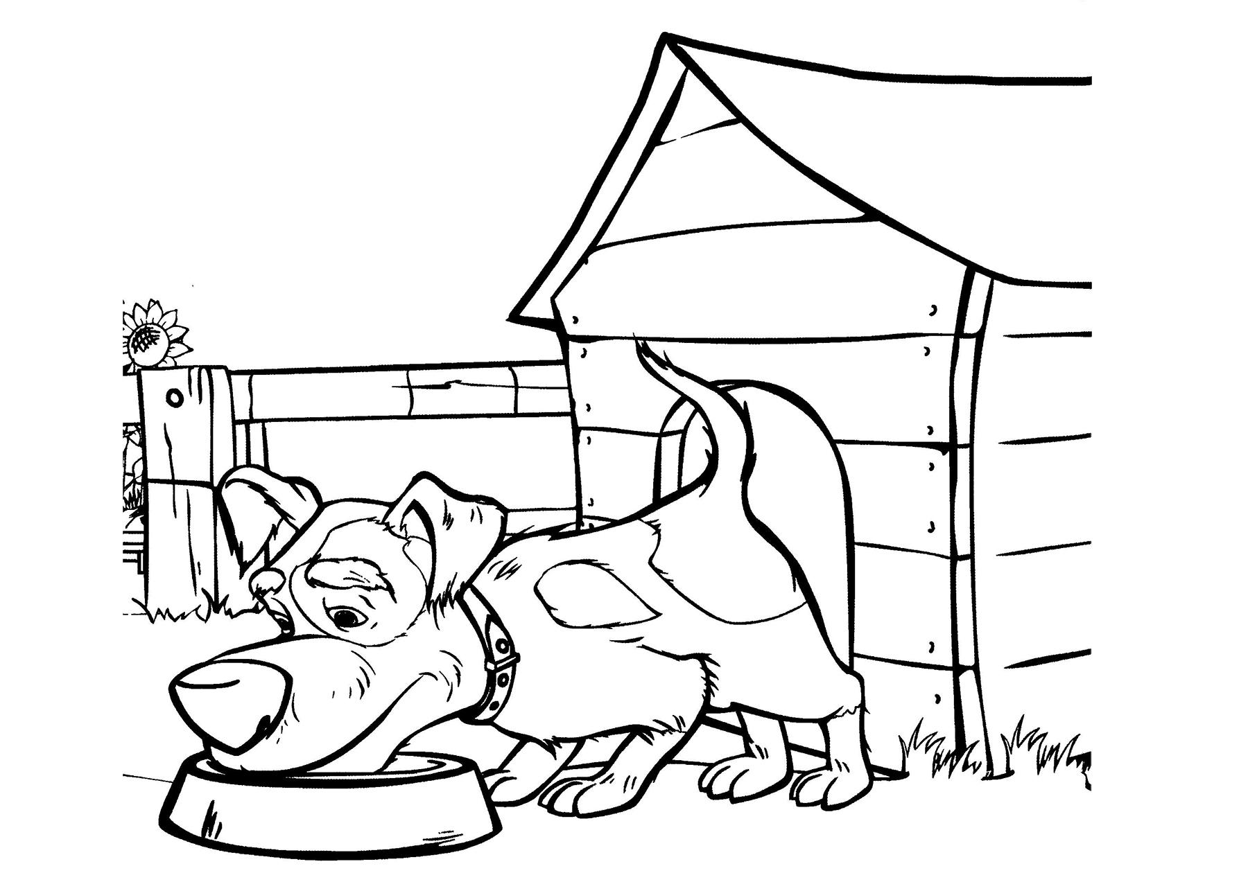 Собака Маши | Папины Сказки - скачать раскраски