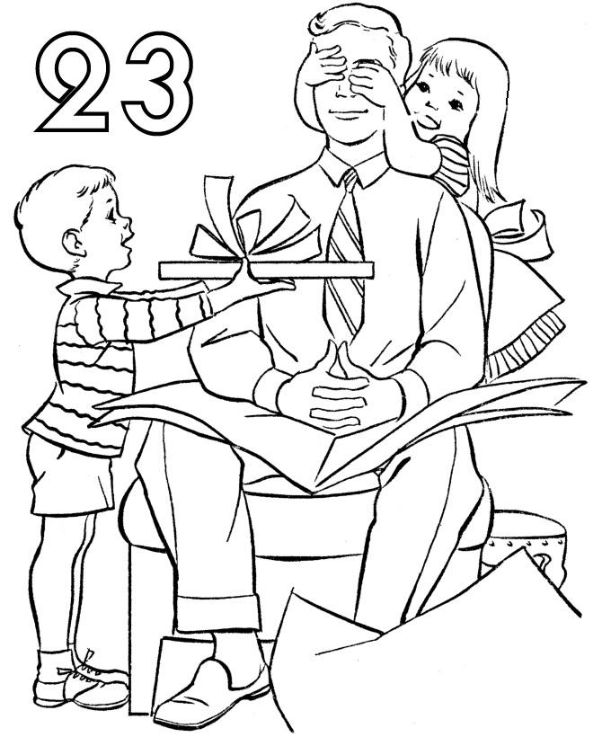 Дети Поздравляют Папу | Папины Сказки - скачать раскраски