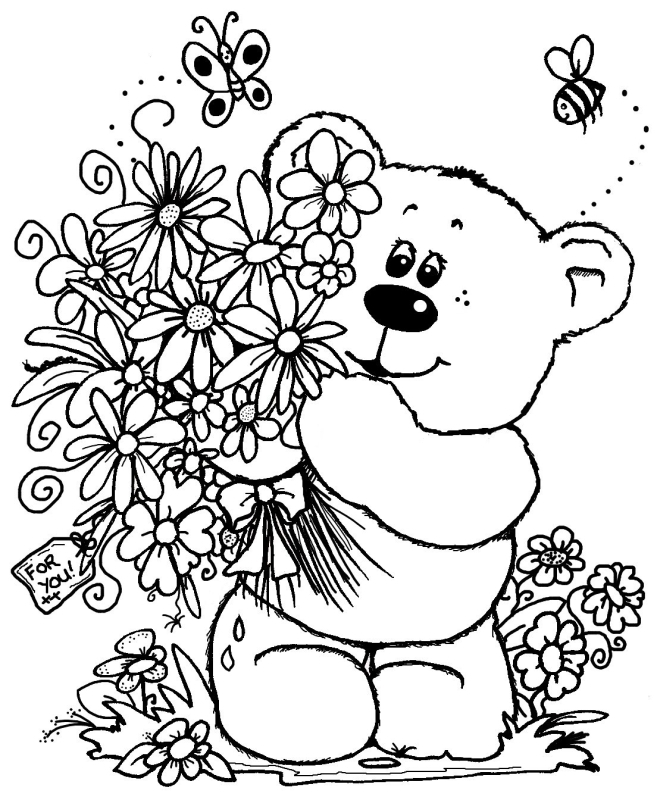 рисунки медвежат на марта животные, которые