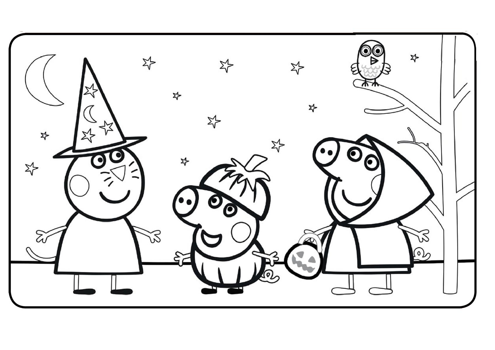 Свинка Пеппа И Хэллоуин | Папины Сказки - скачать раскраски